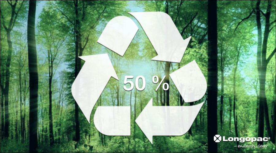 bolsa de basura 50% plastico reciclado